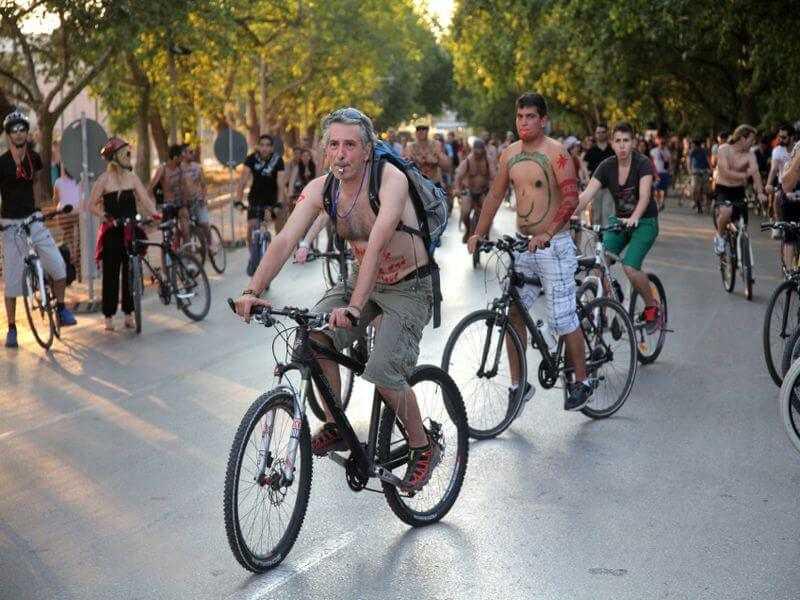 Biking in Griechenland